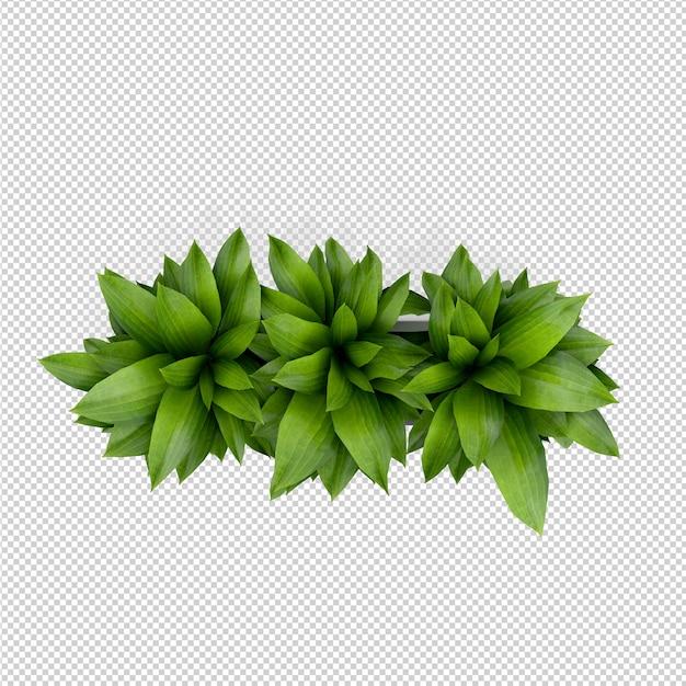 Representación isométrica planta 3d PSD Premium