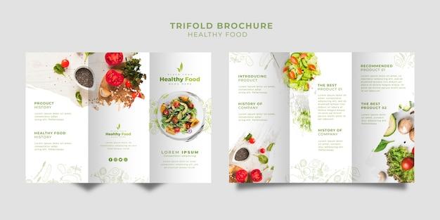 Restaurant driebladige brochure ingesteld sjabloon Gratis Psd