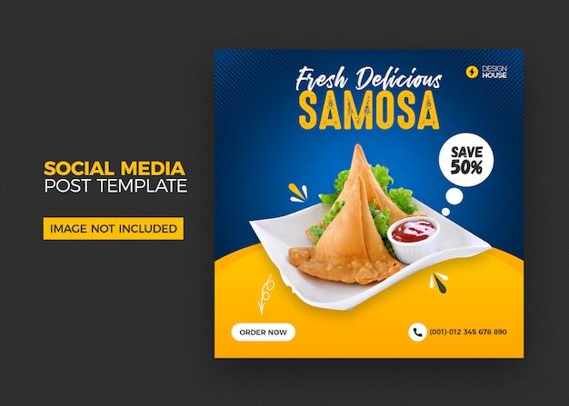 Restaurant sociale media plaatsen banner Premium Psd