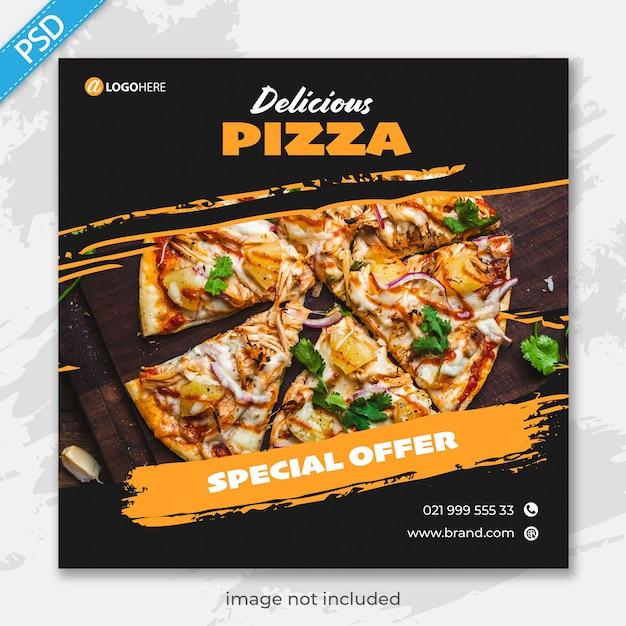Restaurant voor sociale media instagram postbannersjabloon premium Premium Psd