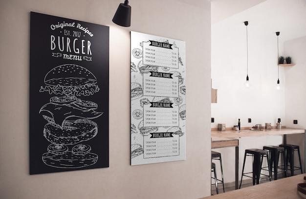 Restaurantmenu van de dag in krijt Gratis Psd