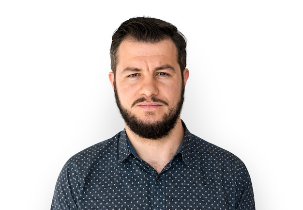 Retrato de hombre serio PSD Premium