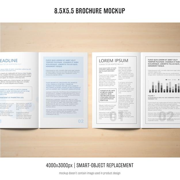 Retrato de maqueta de folleto PSD gratuito