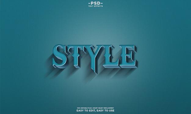Retro-stijl belettering teksteffect sjabloon premium psd Premium Psd
