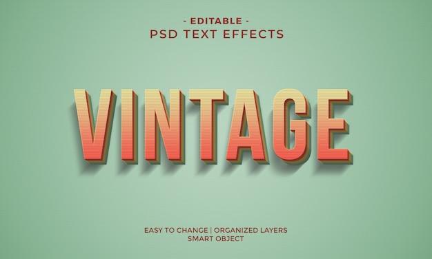 Retro vintage cool teksteffect Premium Psd