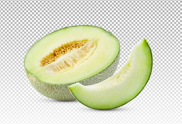 Rijpe gesneden geïsoleerde meloen Premium Psd