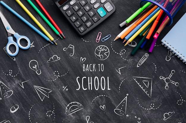 Rilassati a scuola con disegni a gessetto Psd Gratuite