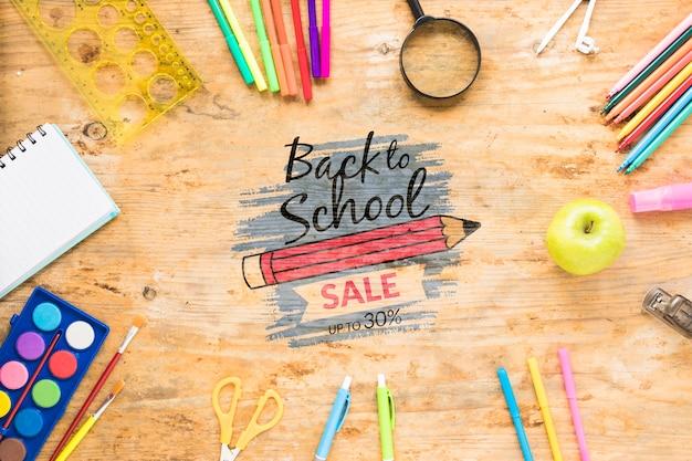 Ritorno a scuola in vendita con uno sconto del 30% Psd Gratuite