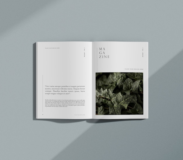 Rivista editoriale di natura e piante Psd Gratuite