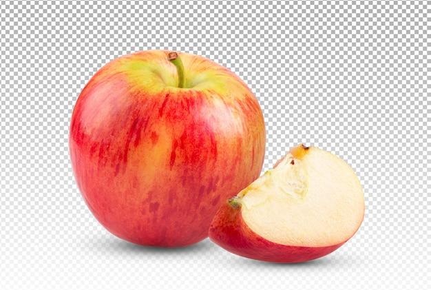 Rode appel geïsoleerd Premium Psd