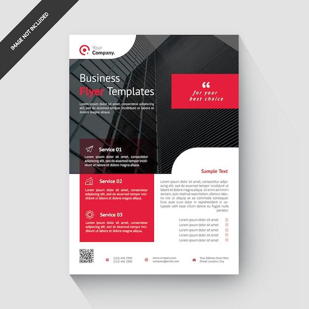 Rode zakelijke creatieve zakelijke sjabloon folder Premium Psd