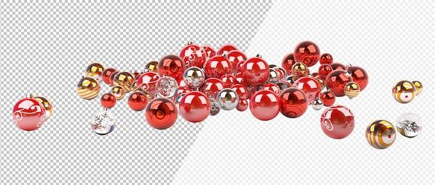 Rood en zilver kerstmarmer Premium Psd
