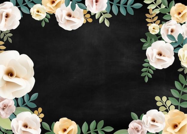 Rose pattern floral texture concept Psd Gratuite