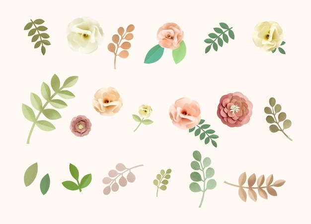 Rose pattern floral texture concept PSD gratuito