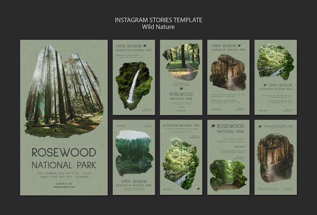 Rosewood national park instagram-verhaalsjabloon Gratis Psd