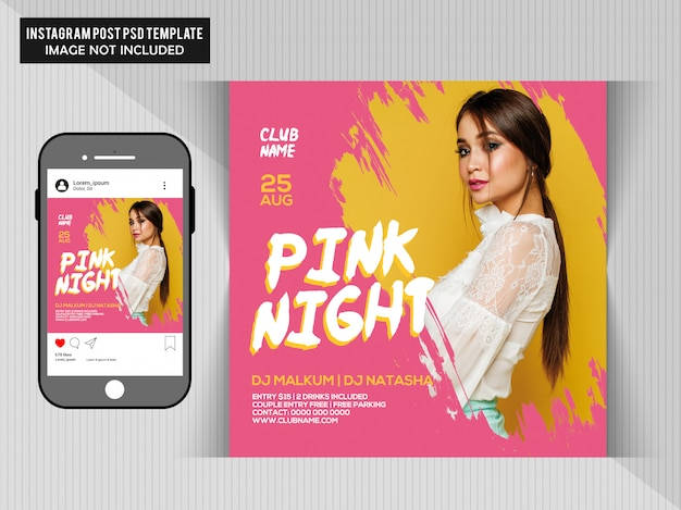 Roze feestvlieger Premium Psd