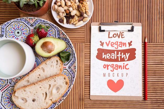 Salades en gezond eten Gratis Psd
