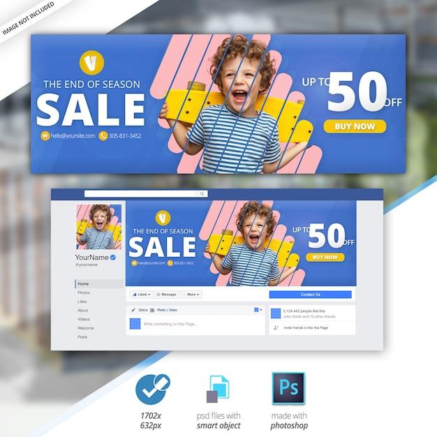 Sale facebook timeline cover banner Psd Premium