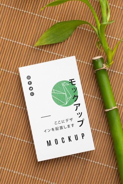 Samenstelling van visitekaartje mock-up Gratis Psd