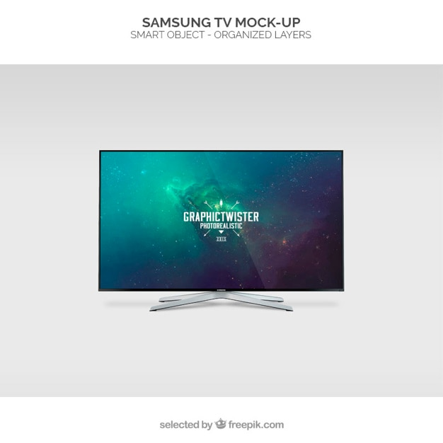 Samsung tv mockup Gratis Psd