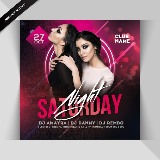 Saturday night party flyer Premium Psd