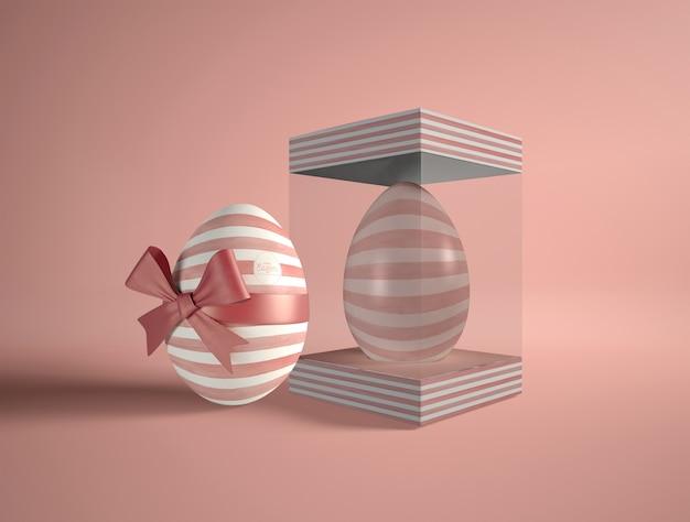 Scatola trasparente con uovo di pasqua Psd Gratuite