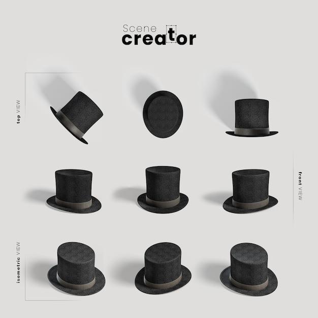 Scène maker carnaval goochelaar hoed Gratis Psd