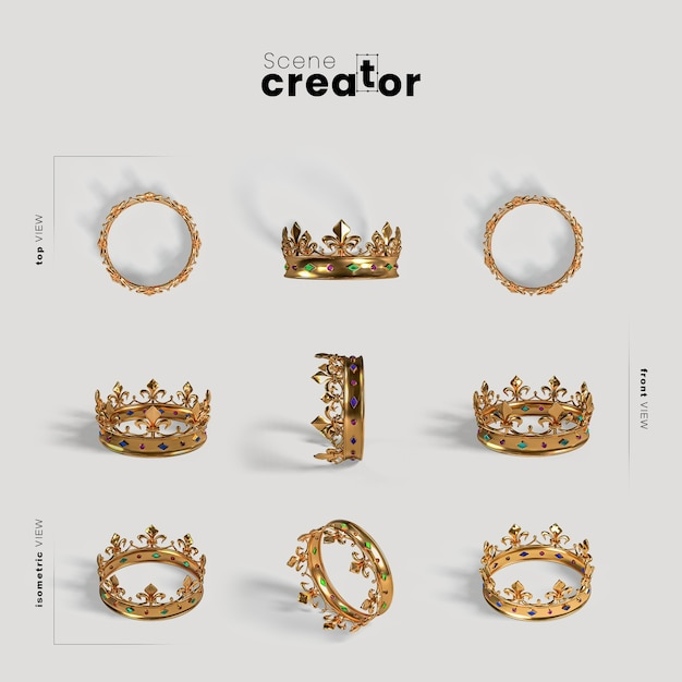Scène maker carnaval gouden kroon Gratis Psd