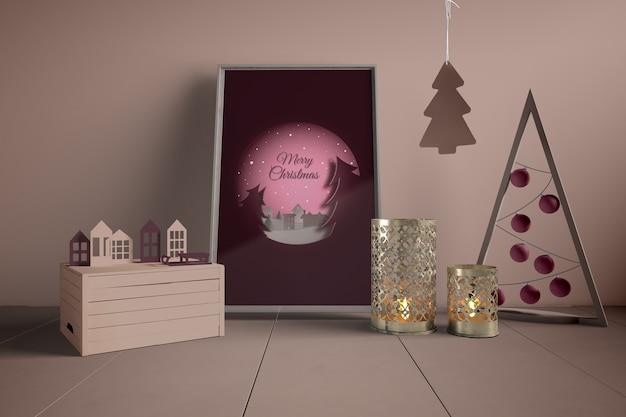 Schilderen en decoraties voor kerstmis Gratis Psd