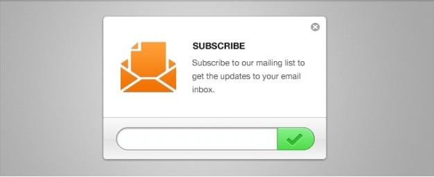 Schone e-mail nieuwsbrief abonnement psd Gratis Psd