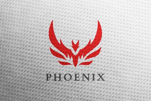 Schoon logo-model in witte sportstof Premium Psd
