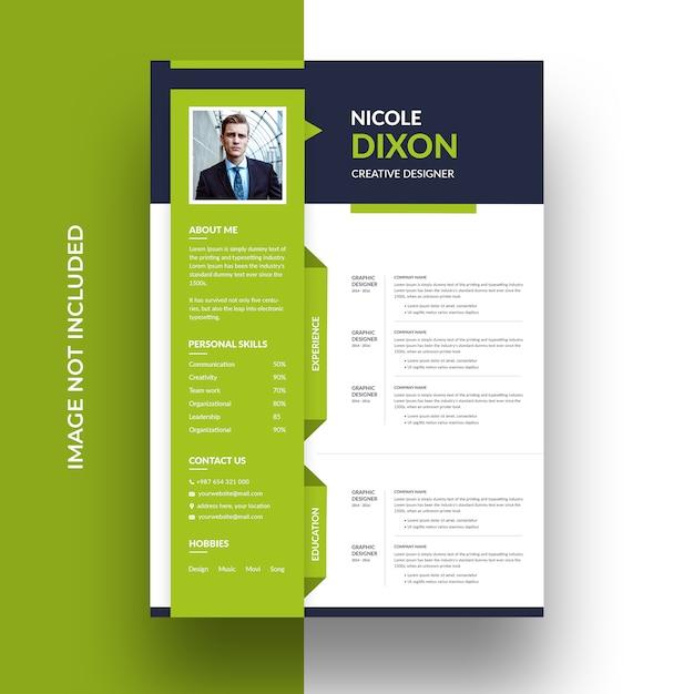 Schoon professioneel cv-sjabloon Premium Psd