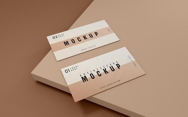 Schoon visitekaartje psd mockup design Gratis Psd