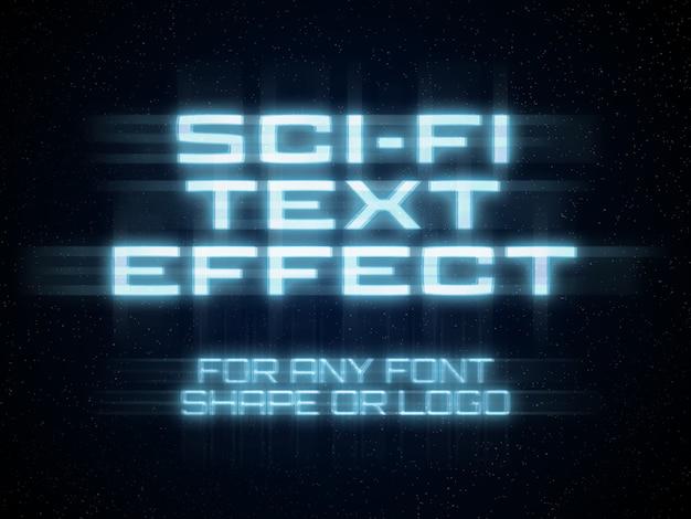 Sci-fi teksteffect Premium Psd
