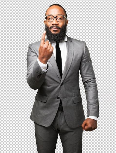 Segno di numero uno dell'uomo di affari di colore Psd Premium