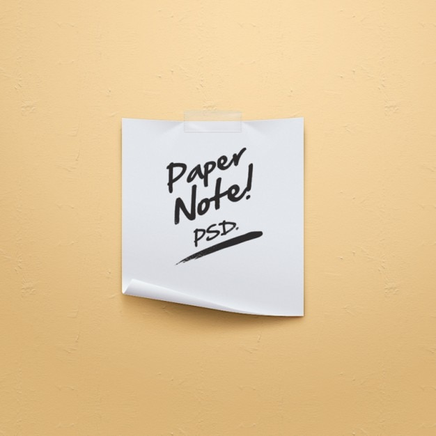Sencilla nota de papel origami psd PSD gratuito