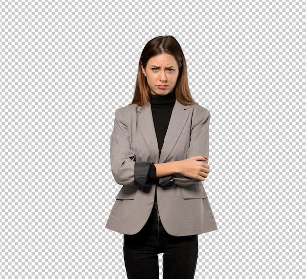 Sensazione della donna di affari turbata Psd Premium