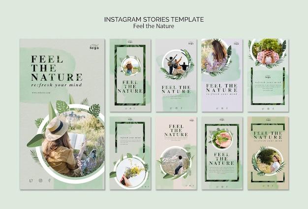 Senti le storie della natura su instagram Psd Gratuite