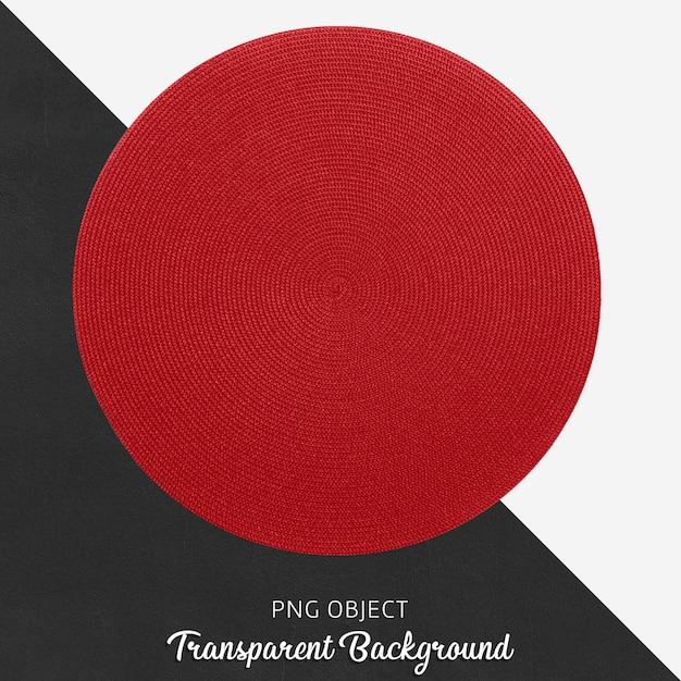 Servicio de mimbre transparente y redondo rojo. PSD Premium