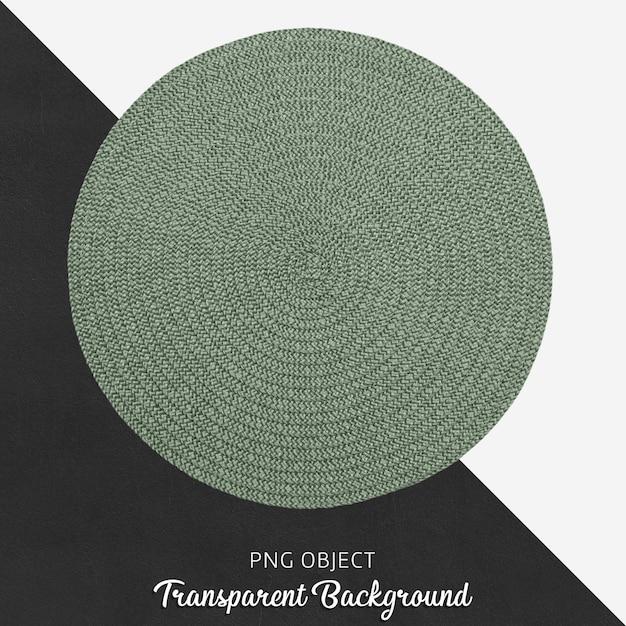 Servicio textil redondo verde sobre fondo transparente PSD Premium