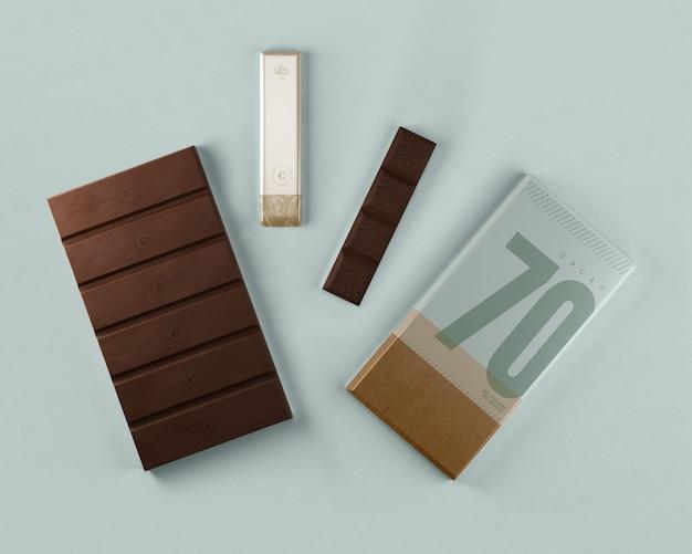Set di confezioni di compresse di cioccolato pulito Psd Gratuite