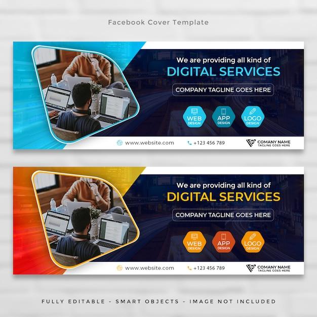 Set di copertine della timeline aziendale di facebook Psd Premium
