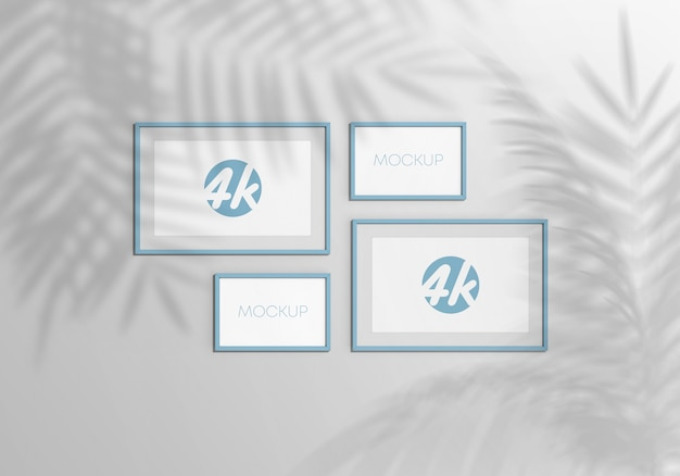 Set di cornici galleria mockup Psd Premium