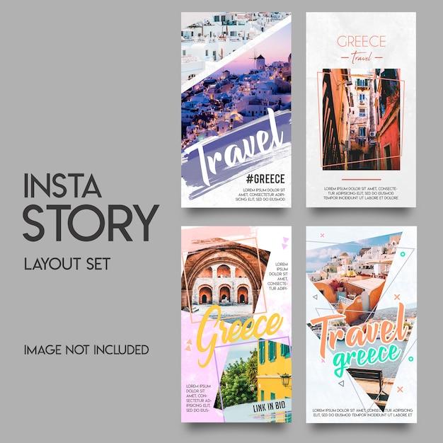 Set di modelli di storie instagram Psd Premium