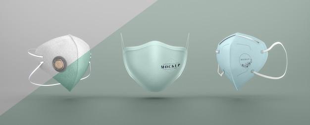 Set gezichtsmaskers mock-up Gratis Psd