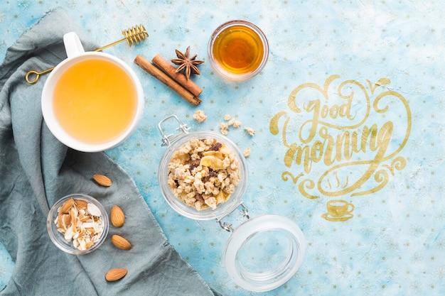 Set van gezonde start ingrediënten Gratis Psd