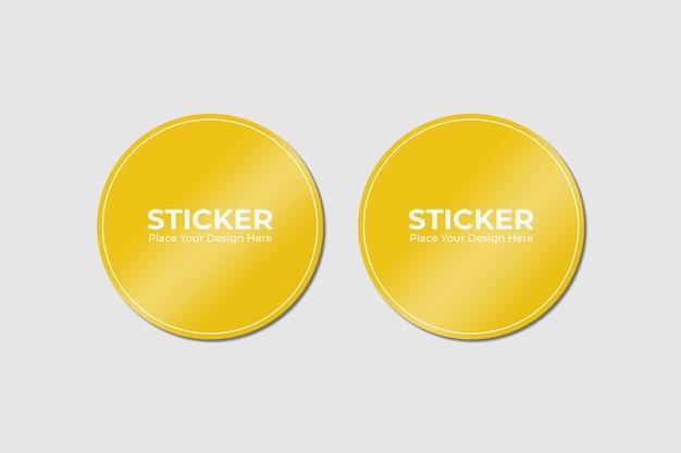 Set van twee zelfklevende stickers mockup Premium Psd