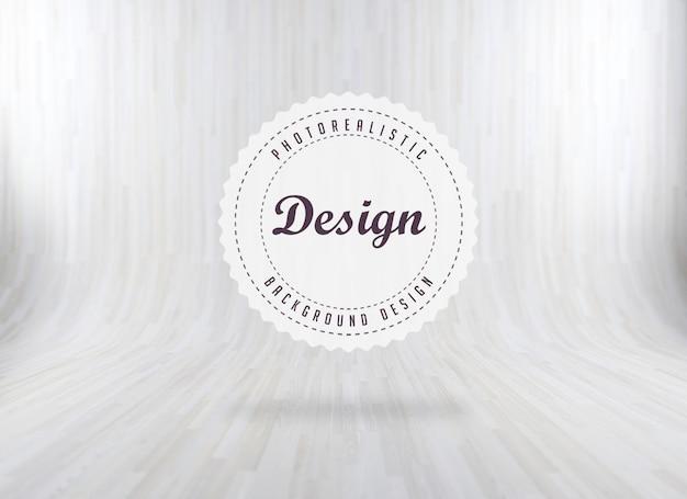 Sfondo bianco di legno realistico Psd Gratuite