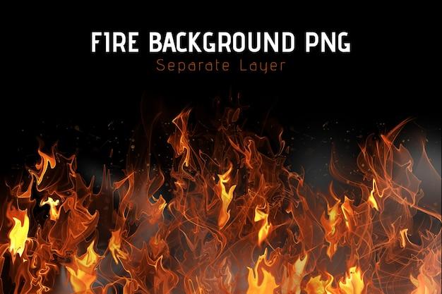 Sfondo di fuoco Psd Premium