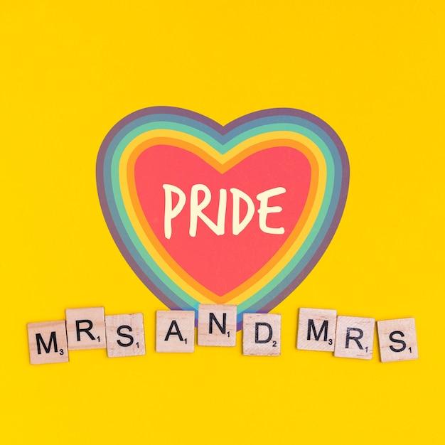 Sfondo di orgoglio gay con un cuore Psd Gratuite